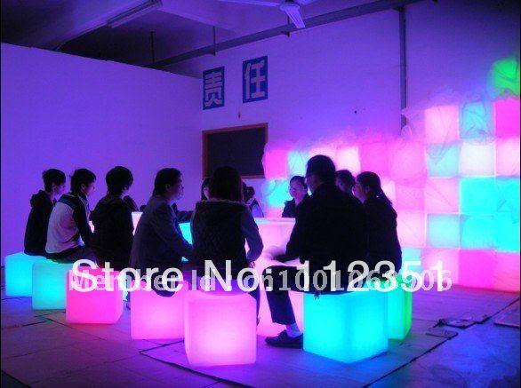 Aliexpress.com : Buy LED cube stool lighting stool for bar ...