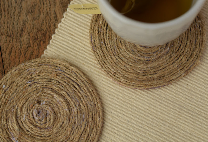 how to make rope twine coasters