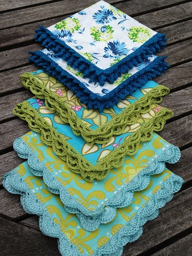 Crochet napkins ~ cool