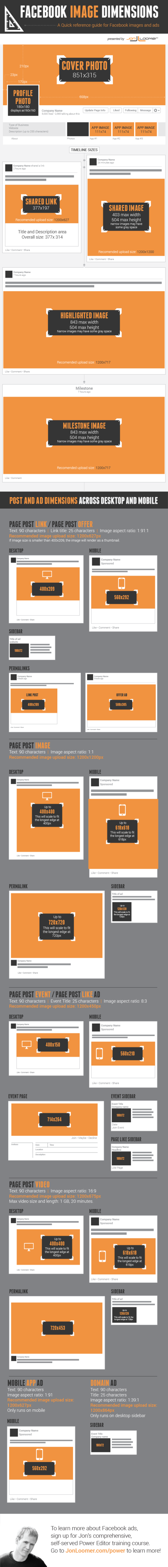 Infographic: Facebook Image Dimensions