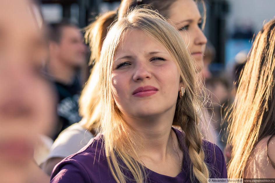 Зрительница на фестивале болельщиков FIFA Fan Fest в Саранске