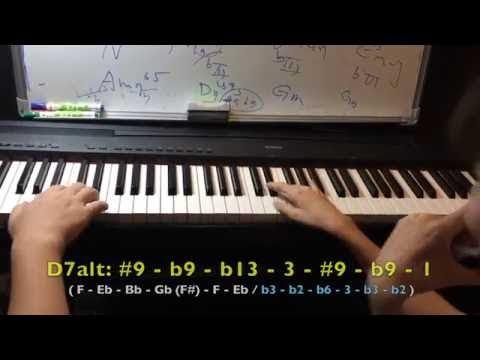 [爵士行動小教室] 如何在V7和絃中聽起來更爵士?也可以再這樣想並用看看 (影片)