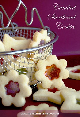 Candied Shortbread Biscuits