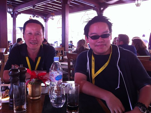 With Yu Guangyi at lunch
