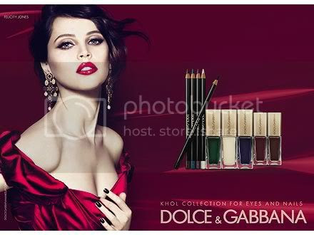 Felicity Jones Dolce & Gabbana Makeup Ad