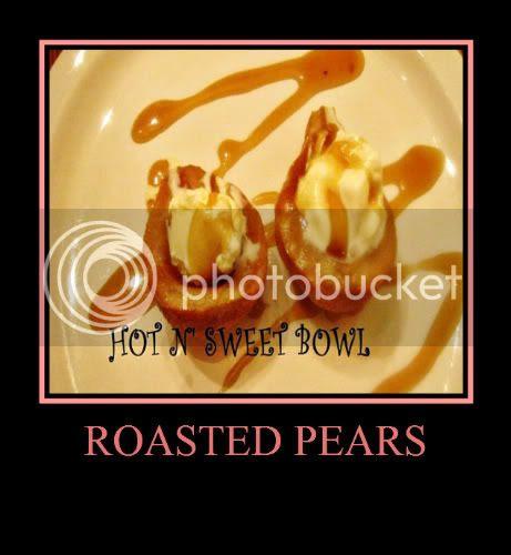 Roasted Pears With Vanilla Ice-cream