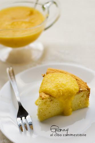 Cotton japanese cheesecake pesca arancia