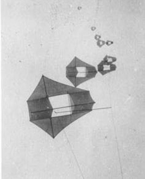 George Lawrence used kites to take aerial pictures showing the devastation caused by the San Francisco earthquake of 1906