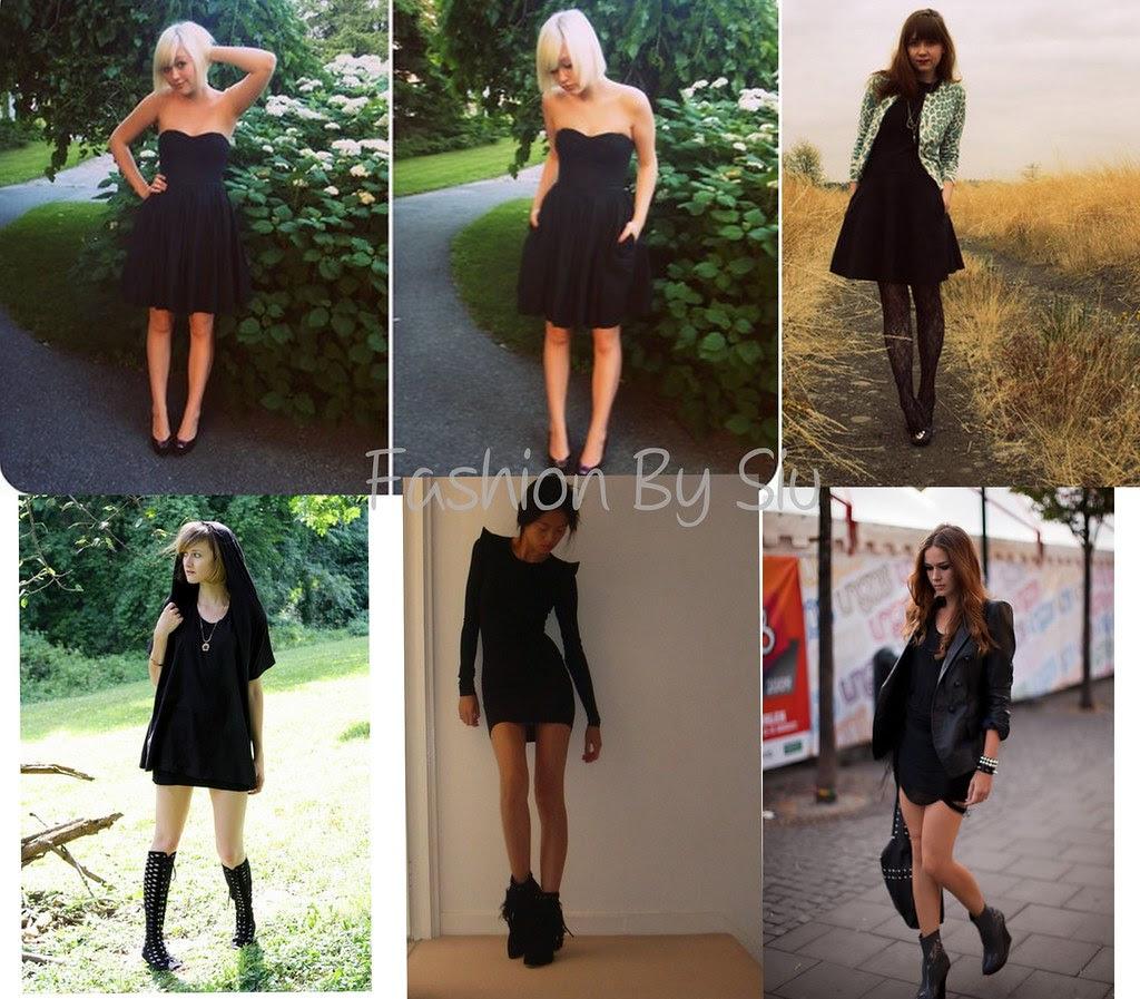 siyah mini elbiseler