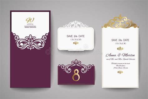 Wedding Invitation Or Greeting Card With Gold Floral