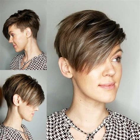 short asymmetrical pixie haircuts