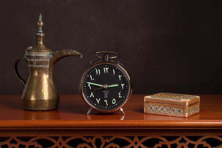 reloj en números arabigos