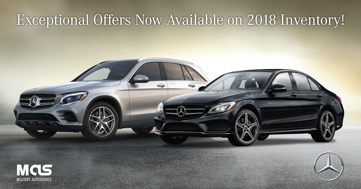 Exceptional Offers On Remaining 2018 Mercedes-Benz Inventory