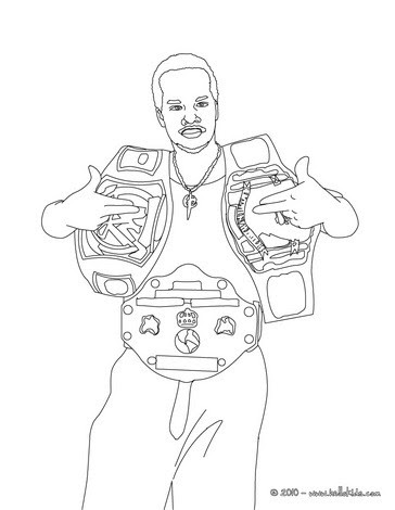 Bible Coloring Pages Wrestler Sheamus Page