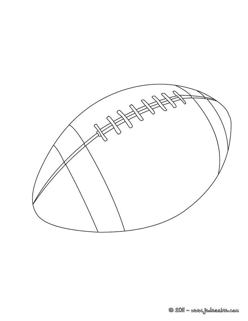 Coloriage d un ballon de Rugby