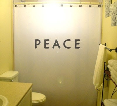 Popular items for peace shower curtain on Etsy