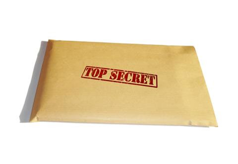 """Envelope with """"Top Secret"""" stamped on it"""