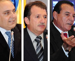 Os deputados Marcelo Tavares, Magno Bacelar e Raimundo Cutrim; para eles suposta fraude e clamor dos candidatos não é motivo para anular o concurso. Foto: Reprodução