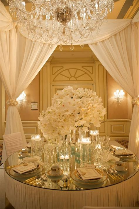 Ivory   gold wedding reception   Wedding Style   Pinterest