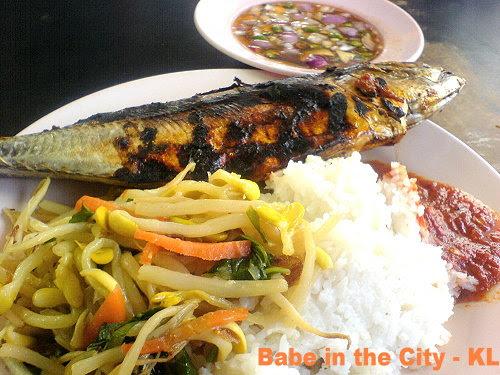 Ikan bakar RM6.50 with limau ais