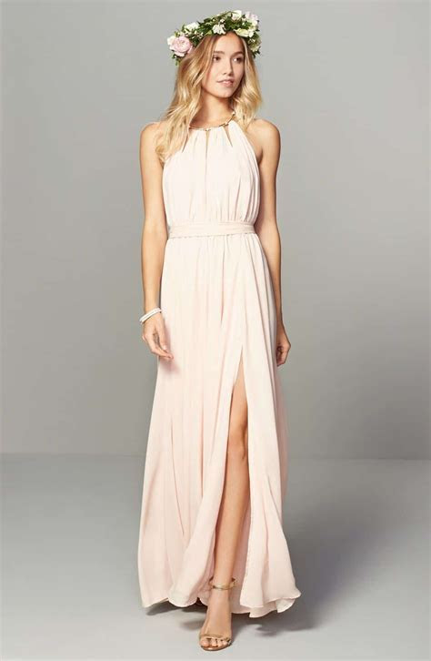 blush bridesmaid dresses 12 best outfits   cute dresses