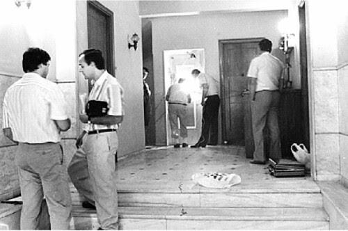 1989Η είσοδος στην Ομήρου την ημέρα της δολοφονίας του Παύλου Μπακογιάννη