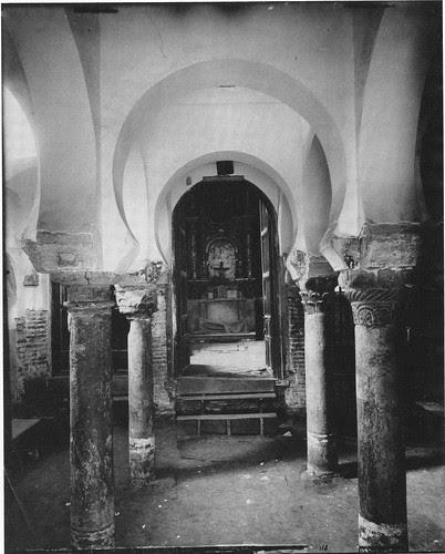 Mezquita del Cristo de la Luz (Toledo), Foto Mariano Moreno hacia 1885