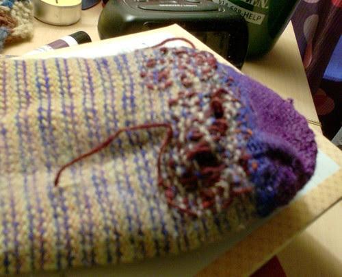 Knitting darning socks knitter weaving mending holes