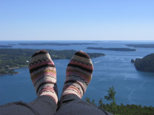 Acadia Mountain second summit and socks