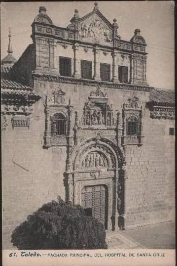 Museo de Santa Cruz hacia 1900. Foto Lacoste
