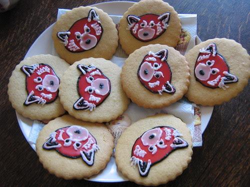 Red panda biscuiteer biscuits