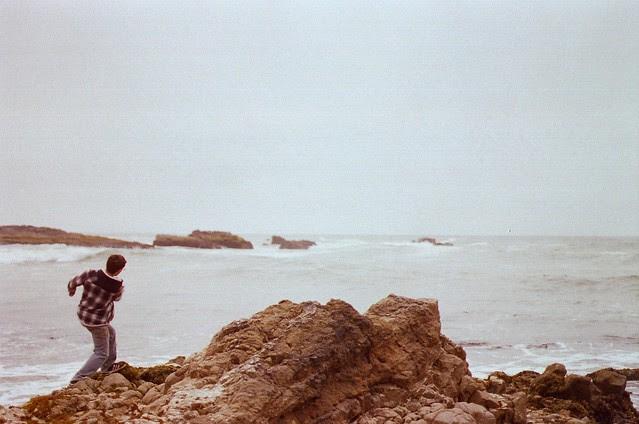 skipping rocks on the ocean