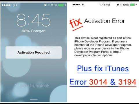 activation error iphone 6s