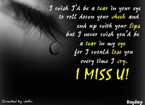 Don?t Be A Tear In My Eye! Free Miss You eCards, Greeting