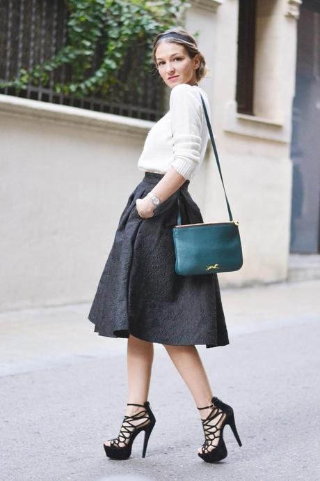 BARROQUE MIDI SKIRT
