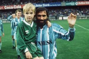 George Best con suo figlio