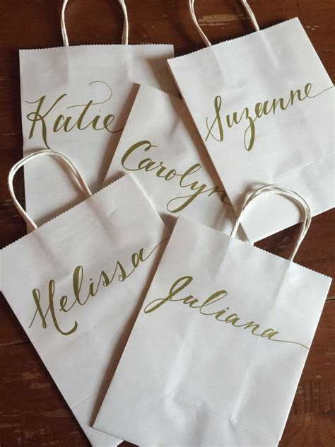 Personalized Gift Bag with Name and Optional Wedding Role
