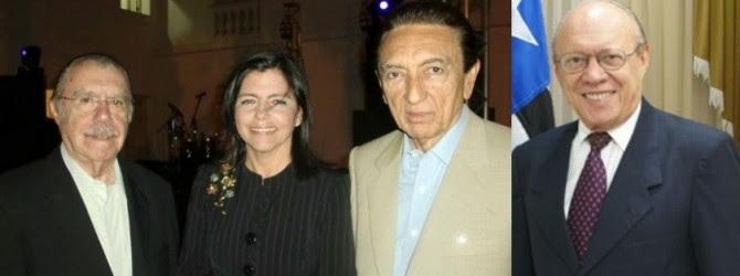 José Sarney, Roseana Sarney, Edison Lobão e João Alberto juntos em 2014