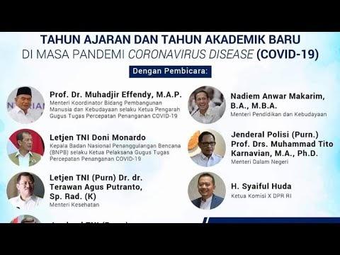 (LIVE) Pengumuman Keputusan Bersama - Panduan Penyelenggaraan Pembelajaran di masa Pandemi