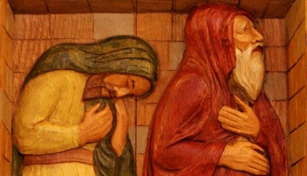 Dwóch ludzi przyszło do świątyni, żeby się modlić, jeden faryzeusz a drugi  celnik.