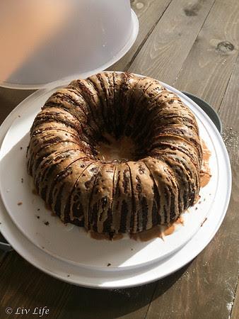 Chocolate Pumpkin Cake with Spiced Glazes