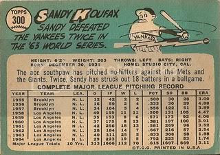 #300 Sandy Koufax (back)