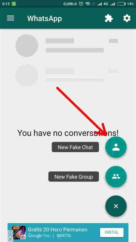 membuat chat palsu whatsapp  seru seruan