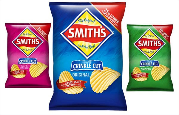 Smiths Chips packaging design 30+ Crispy Potato Chips Packaging Design Ideas