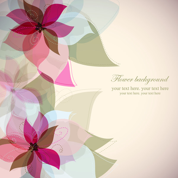 Simple Flower Painting Vector Pattern Free Vector Free Download
