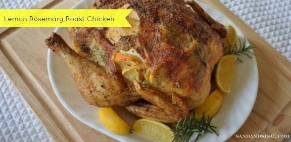 Lemon Rosemary Roast Chicken via Sand & Sisal