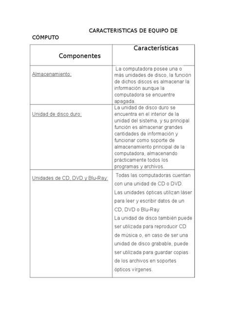 Caracteristicas de Equipo de Cómputo | Printer (Computing