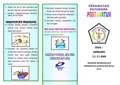 leaflet perawatan payudara akper raha