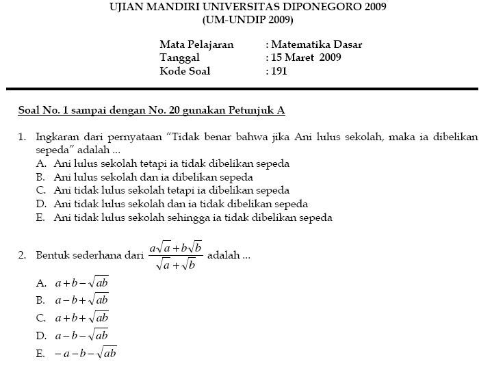 Contoh Soal Ujian Mandiri Ips Ilmu Pengetahuan 8