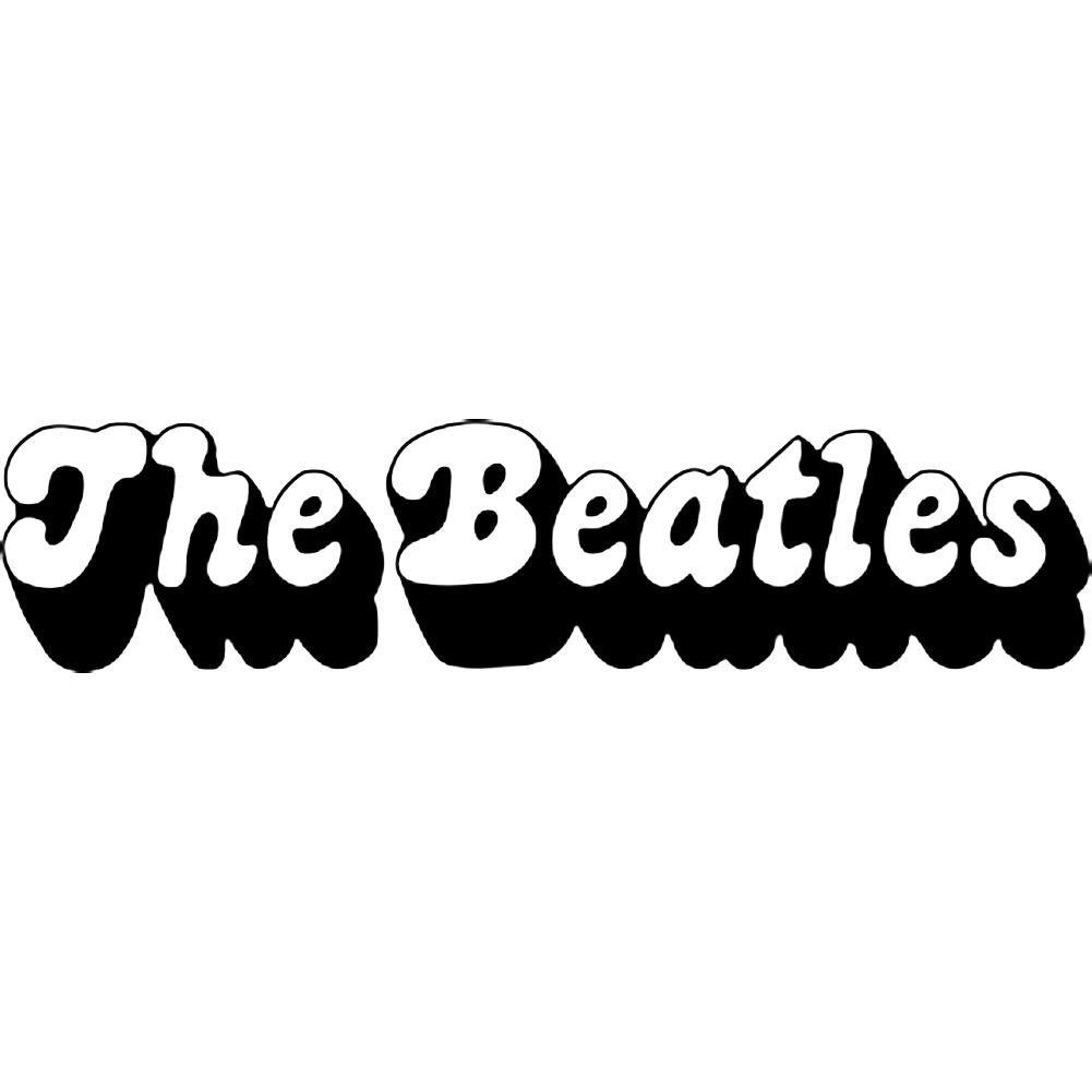 The Beatles 3D Logo Rub-On Sticker - Black - RockMerch